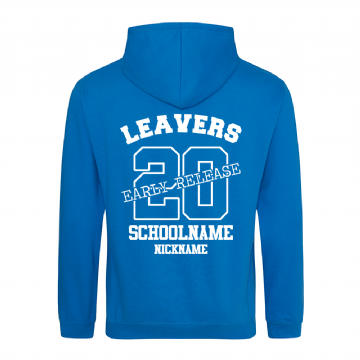 Early Release Leavers hoodie Sapphire Blue